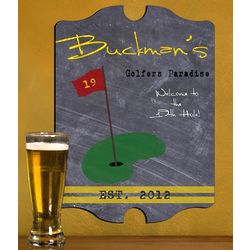 Personalized Vintage Golf Tavern Sign