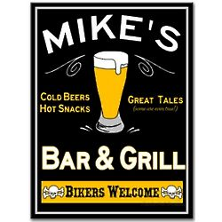 Bikers Bar and Grill Custom Sign