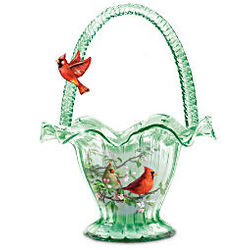 Cardinal Serenade Hand-Blown Glass Bowl