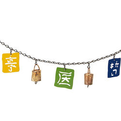 Kanji Concepts Flag Banner with Bells