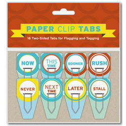Now/Never Paper Clip Tabs