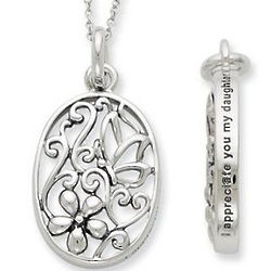 I Appreciate You My Daughter Pendant and Necklace