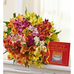 Peruvian Lilies Birthday Bouquet