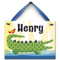 Crocodile Kid Personalized Ceramic Tile