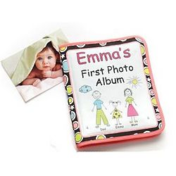 Pastel Personalized Baby's First Photo Album