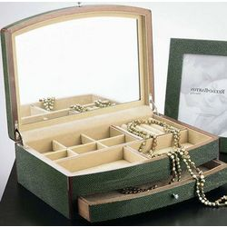 Shagreen Jade Gloss Wooden Jewelry Box