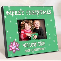 Green Holiday Personalized Picture Frame
