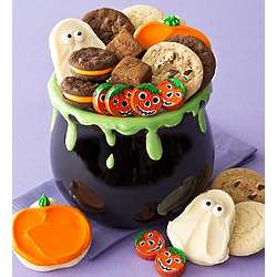 Cauldron Serving Bowl with Treats