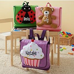 Personalized Plush Messenger Bag