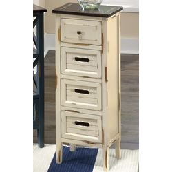 4 Drawer Distressed Narrow Cabinet