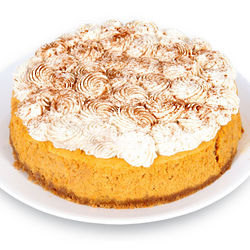 Pumpkin Cheesecake with Whipped Cream