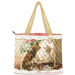 Fairest of Them All Quilted Tote with Golden Heart Charm