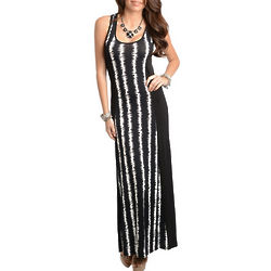 Animal-Print Racerback Maxi Dress