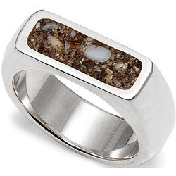 Custom Beach Sand Women's Ring