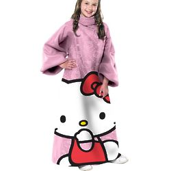 Hello Kitty Youth Comfy Throw Blanket with Sleeves