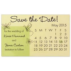 Butterfly Design Personalized Save the Date Magnet