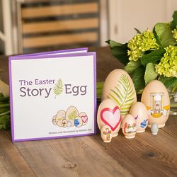 The Easter Story Egg Children's Book with Nesting Eggs