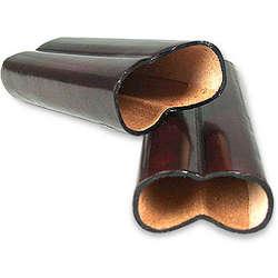 Mahogany Leather Cigar Holder