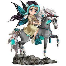 Native American-Inspired Dreamchaser Fairy Maiden Figurine