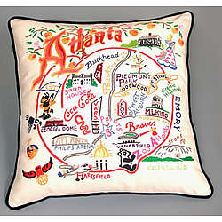 Hand Embroidered Atlanta Accent Pillow