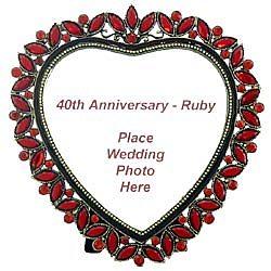 40th Wedding Anniversary Ruby Heart Frame