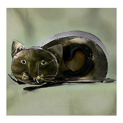 Playful Kitten Tin Sculpture