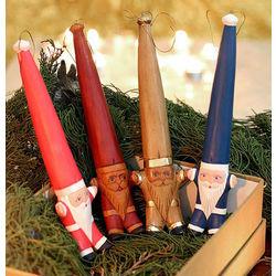 Santa's Big Ha' Wood Ornament Set