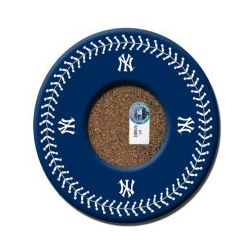 New York Yankees Blue Coaster Set with Game Used Dirt