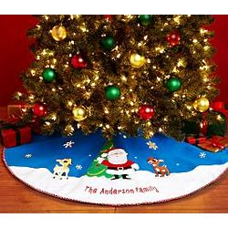 Personalized Rudolph Tree Skirt
