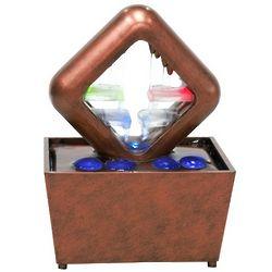 Copper Cube Desktop Water Fountain