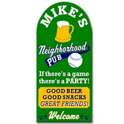 Neighborhood Sports Pub Custom Sign