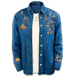 The Magic of Disney Women's Denim Shirt with Coordinating T-Shirt