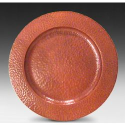 "Roycroft-style Hammered Copper 12"" Plate"