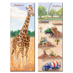 Handpainted Personalized Growth Chart