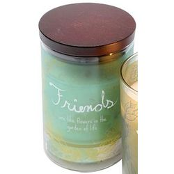 Friends Warm Words Candle