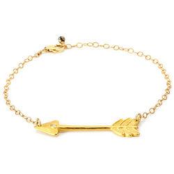 Handcrafted Diamond Arrow Bracelet