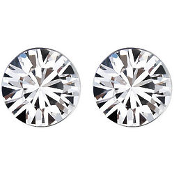 White Swarovski Elements Crystal Stud Earrings