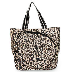 All For Color Leopard Print Tennis Tote