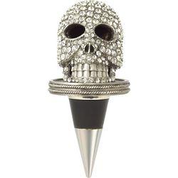 Crystal Encrusted Skull Bottle Stopper