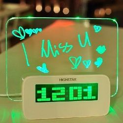 Digital Alarm Clock With 4 Port USB Hub and LED Message Board