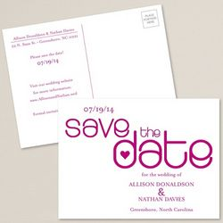 Sweet Love Personalized Save the Date Postcard