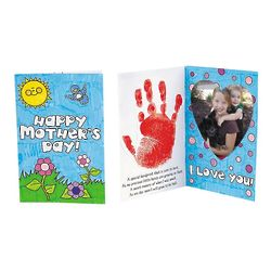 DIY Handprint Mother's Day Picture Frame Card Craft Kit