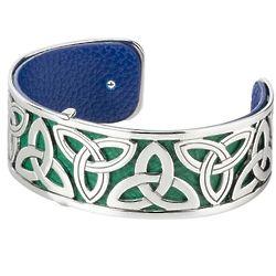 Silver Plated Filigree Small Celtic Cuff Bracelet