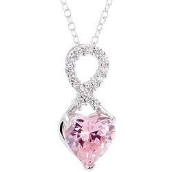 Infinity Custom Heart Birthstone Pendant