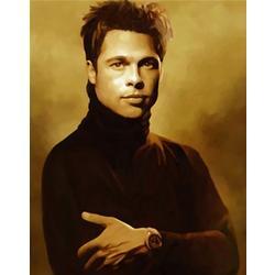 Brad Pitt Oil Painting Giclee