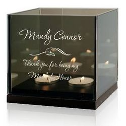 Maid of Honor Double Tealight Candle Holder