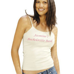Personalized Spaghetti Strap Tank Top