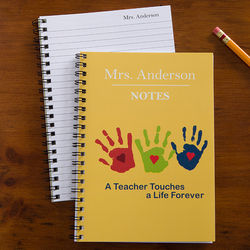 Personalized A Teacher Touches A Life Notebook Set