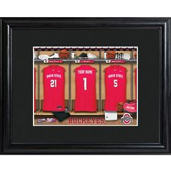 Personalized College Basketball Locker Room Print