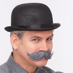 English Grey Mustache Costume
